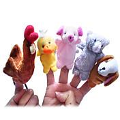 指人形 鶏 あひる 犬 豚 カトゥーン かわいい アイデアおもちゃ斬新さ玩具 男の子向け 女の子向け クロス
