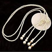 Dámské Pramenů Náhrdelníky Perly Napodobenina perel Módní Stříbrná Zlatá ŠperkySvatební Párty Zvláštní příležitosti Narozeniny Denní