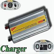 meind® inversor de potencia de 1000w con el cargador de 12v dc ac 220v m1000cd inversores coche fuente de alimentación