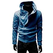 nono par con capucha de la cremallera oblicua hoodie