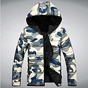 manwanwalk®menのカジュアルスリム軍事迷彩フード付きjacket.thickはcoat.size S-3XLダウン温める!
