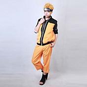 Inspirado por Shippuden Naruto Naruto Uzumaki Animé Disfraces de cosplay Trajes Cosplay Retazos Manga Larga Chaqueta Pantalones Para Hombre Mujer