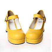 Cipele Sweet Lolita Lolita Štiklu Cipele Jednobojni 7.5 CM Crn Obala Srebrna Bijela Za Umjetna koža/Polyurethane Leather