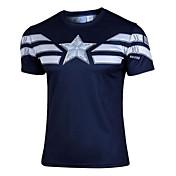 Hombre Camiseta de running Manga Corta Secado rápido Resistente a los UV Listo para vestir Top para Ejercicio y Fitness Deportes