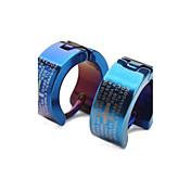 Okrugle naušnice Moda Klasika Personalized Titanium Steel Cross Shape Plava Jewelry Za Kauzalni Božićni pokloni