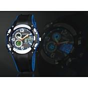 OHSEN Hombre Reloj Deportivo LED Calendario Cronógrafo Resistente al Agua Cuarzo Silicona Banda De Lujo Negro Blanco Azul Rojo Amarillo