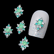 10pcs zeleni bižuterija legure za DIY prstiju dizajn nail art ukrasa