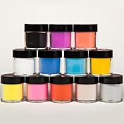 mezclada 12 colores en polvo acrílico escultura de arte de uñas escultura talla uñas escultura flor para bricolaje decoraciones de uñas 3d