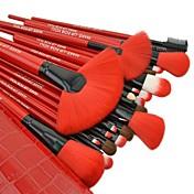 24 Sistemas de cepillo Pelo Sintético / Pincel de Poni / Pincel de Nylon / Otros / Caballo Antibacteriano Rostro / Labio / OjoMAKE-UP FOR