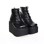 Zapatos Punk Lolita Plataforma Zapatos Un Color 10 CM Para Cuero Sintético/Cuero de Poliuretano