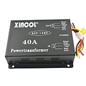 xincol® vozidlo auto dc 24v na 12v 40a převodník napájení transformátoru s fan regulace-black