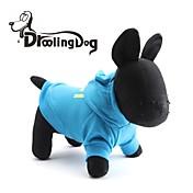 Gatos / Perros Saco y Capucha Azul / Negro Ropa para Perro Invierno Letra y Número / Policía/Militar