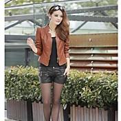 コート11のyuntuo®womenのファッションPUレザービッグヤード