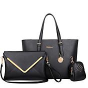 Mujer PU Formal / Casual / Oficina y Trabajo / De Compras Bolso de Hombro / Tote / Conjuntos de Bolsa Beige / Azul / Negro
