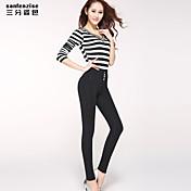 De las mujeres Pantalones Ajustado - Casual/Para Trabajo/Tallas Grandes Elástico - Licra/Poliéster