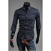 Camisas Casuales ( Algodón/Rayón )- Cosecha/Casual/Fiesta/Trabajo Manga Corta para Hombre