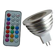 4W GU5.3(MR16) LEDスポットライト MR16 1PCS ハイパワーLED lm RGB 明るさ調整 / リモコン操作 / 装飾用 DC 12 / AC 12 V 1個