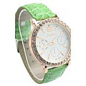 優子の女性のファッションレジャー3針ベルトダイヤモンドファッション腕時計