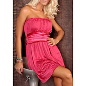 婦人向け ドレス , エナメル革 膝上 ノースリーブ