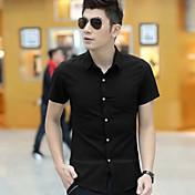 Camisas Casuales ( Algodón Compuesto )- Casual Cuello de camisa Manga Corta para Hombre