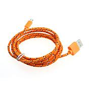 2m Micro USB synchronizační kabel datový kabel nabíječky pletené textilie