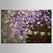 手描きの 風景 / 静物画 / 花柄/植物のModern 1枚 キャンバス ハング塗装油絵 For ホームデコレーション