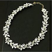 女性 チョーカー ジェムストーン 模造ダイヤモンド 合金 ファッション クラシック シルバー スクリーンカラー ジュエリー 結婚式 パーティー 誕生日