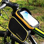 CoolChange® Bolsa para Bicicleta 3LBolsa para Cuadro de Bici Ciclismo Mochila Accesorios de MochilaA prueba de lluvia Banda reflectante