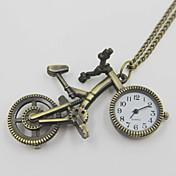 絶妙な自転車状の懐中時計セーターのネックレス