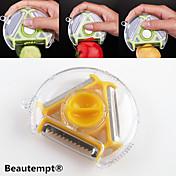 1ks 3v1 multifunkční novinka otočný zelenina ovoce brambory škrabka kráječ drtič fréza (náhodné barvy)