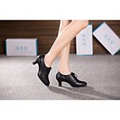 Non Přizpůsobitelné - Dámské - Taneční boty - Latina - Kůže - Kubánské - Černá / Zlatá