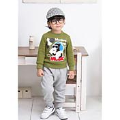 Pantalones Boy-Verano / Primavera / Otoño-Mezcla de Algodón-Estampado
