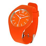 comtex sym139014ファッション運動シリコーンクォーツ時計