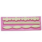 dlouhý květ pečení fondant dort choclate cukroví plísně dort hraniční dort zdobení cukr řemeslo formy
