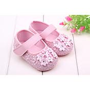 女の子 赤ちゃん フラット 赤ちゃん用靴 春 秋 カジュアル ドレスシューズ 赤ちゃん用靴 ラインストーン 面ファスナー ブラック ホワイト ピンク