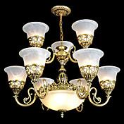 Lámparas Araña ,  Tradicional/Clásico Cosecha Retro Bronce Característica for Estilo de la vela MetalSala de estar Comedor Habitación de