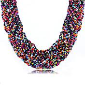 Dame Kort halskæde Akryl Rhinsten Mode Boheme Stil Hvid Sort Grøn Lys pink Regnbue Smykker For Daglig Afslappet 1 Stk.