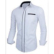 Camisas Casuales ( Algodón )- Cosecha / Casual / Fiesta / Trabajo Soporte Manga Larga para Hombre