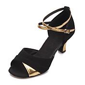 Zapatos de baile (Negro/Plata/Oro) - Danza latina - No Personalizable - Tacón Cubano
