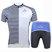 Maillot de Ciclismo con Shorts Hombre Manga Corta Bicicleta Camiseta/Maillot Sets de Prendas Secado rápido Resistente a los UV Aislado