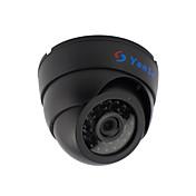yanse® 1000tvl 2.8mm plástico interior de la bóveda d / n CCTV cámara IR 24 conducido por cable 632cf