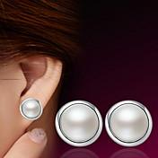 スタッドピアス かわいいスタイル 真珠 純銀製 ホワイト ジュエリー のために