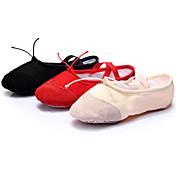 女性用 - ダンスシューズ (ブラック/ピンク/レッド) - カスタマイズ可 - フラット - バレエ