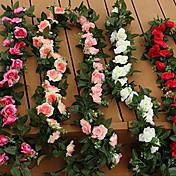 Plástico Rosas Flores Artificiales