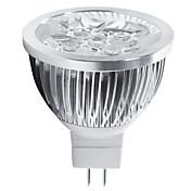 5W GU5.3(MR16) LEDスポットライト MR16 5 ハイパワーLED 550 lm 温白色 / クールホワイト 装飾用 DC 12 V 1個