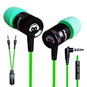 plextone®のG10インイヤーiphone6 / iphone6プラス携帯端末の/パッド/ MP3 / PC用のマイク付きの電子スポーツゲーム金属重低音イヤホン