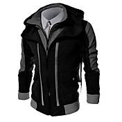 Hombre Tallas Grandes La chaqueta con capucha Casual/Diario Sencillo Bloques Algodón Poliéster Manga Larga Invierno