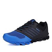 Zapatos Running Semicuero Azul / Negro / Naranja Hombre
