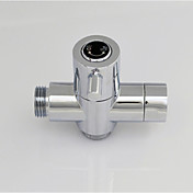 krom G1 / 2 (1/2 '') t-adapter, messing ventil kerne massiv messing bruser vandudskiller til bad brusebad eller bidet
