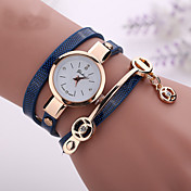 Mujer Reloj de Moda Reloj Casual Reloj Pulsera Cuarzo Reloj Casual La imitación de diamante PU Banda Bohemio Negro Blanco Azul RojoMarrón